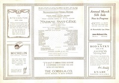 New York 1917: (painting in light) Tags: new york madame march keyboard opera carlton ad january piano advertisement 25 advert ritz pasquale title sell 1915 selling geraldine michelin arturo metropolitan farrar giovanni amato 1917 role première martinelli toscanini conducted sansgene