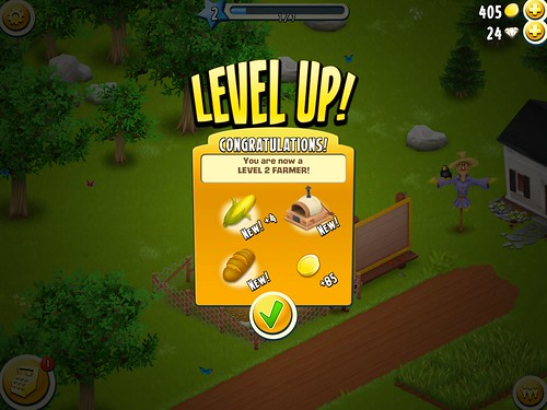 Hay Day Level Up: screenshots, UI