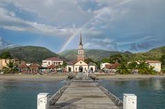 Anse d'Arlet (cathycas) Tags: arcenciel ponton église martinique