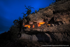 Perched on a Cliff (David Swindler (ActionPhotoTours.com)) Tags: lightpainting night utah kanab ruins grandescalante indianruins escalante anasazi