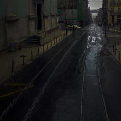 Rainy day (Julio López Saguar) Tags: juliolópezsaguar conversacionesensilencio talkinginsilence concepto concept calle street urban urbano lisboa portugal lluvia rain abstracto abstract