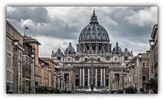 Basilique Saint-Pierre de Rome (jldum) Tags: basilique batiment rome roma hdr monument eglise architecture sal70200g