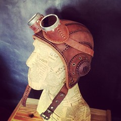 Photo (tovlade) Tags: face mask cyberpunk cyber goth make up goggles girl punk postapocalyptic postapocalypse black steampunk leather hand made larp cybergoth dieselpunk plague doctor