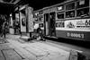 Ops! She falls! | Bangkok 2016 (Johnragai-Moment Catcher) Tags: people photography decisivemoment themoment busstop bangkokstreet street streetphotography streetdocumentary blackwhite blackandwhite expression gesture johnragai johnragaiphotos johnragaistreet johnragaibw olympus omd omdem1