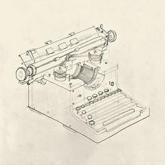 Torpedo Typewriter (Namtra) Tags: arnohartmann demonstrations teachingmaterial torpedo typewriter isometric isometrie bleistift pencil