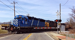2014-03-28 Walton KY CEFX3129 SD40M-2 (ex-SP8869 SD45) (gravelydude1966) Tags: locomotive emd sd40m2 sd45 cefx cefx3129 sp espee walton kentucky