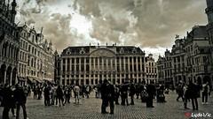 Grand Place de Bruxelles (Lцdо\/іс) Tags: brussels bruxelles belgique belgium belgie beauty belgian capital grand place blackandwhite black noiretblanc noir blanc bw lцdоіс
