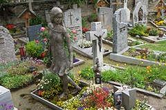 Zermatt Cemetery, Dedicated to Dieing while Doing what you Love (AGrinberg) Tags: 2242350 zermatt cemetery girl die