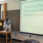 Dr. Maimouna Barro presenting at the 2013 International Summer Institute for Educators