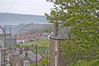 Into The Distance (teelawn) Tags: robinhoodsbay northyorkshire yorkshire trees houses lamppost scaffold moors terracedhouses chimneys