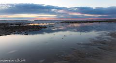 Peaceful Waters (maureen.elliott) Tags: saublebeach lakehuron shoreline sunset beach sand slowshutter peaceful serene 7dwf landscape outdoors evening clouds reflections