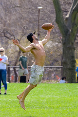 Central Park (lardfr1) Tags: centralpark sheepmeadow footballcatch action
