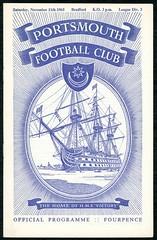 PORTSMOUTH v BRADFORD PARK AVENUE 1961-62 (bullfield) Tags: hmsvictory portsmouth bradfordparkavenue hampshire yorkshire pompey chimes frattonpark