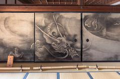 Le temple Kennin-ji (kingfisher001) Tags: daien fujin gion higashiyamaku japan japon junsakukoizumi kenninji kyoto raijin rinzai sotatsutawaraya yasakato artiste bouddhiste cinqétages cloisons dieux dragons décorées fresque japonais jardinderocaille jardinzen jardins jardinszen jumeaux motif pagode paravent peintures préfecturedekyoto sable shinto temple toiles tonnerre vent zen école