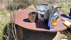 Steel Table (Bikewright) Tags: shenandoahnationalpark dayhike hiking backcountry beardenmountain appalachiantrailpark appalachiantrail royalorchard backcountrycooking esbit esbitstove