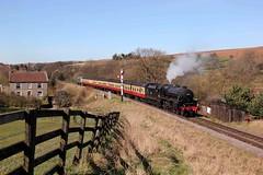 Royal Scot Event - NYMR - 2017-03-25 (BillyGoat75) Tags: lms black5 44806 bloodcustards steamengine locomotive goathland nymr northyorkshiremoorsrailway northyorkshire abbottshouse