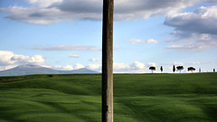 Visions (Irene TP) Tags: valdorcia visions green trees amiata nikon d7100 pole frame