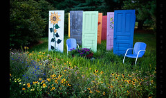 Garden of Opportunities (Whitney Lake) Tags: primavera spring trees grass indiana rainbow doors garden explore 58