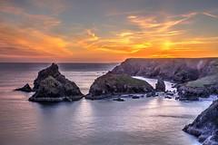 Bonfire of the night (pauldunn52) Tags: kynance cove cornwall lizard stacks beach sea sunset