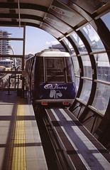 Australia 1997 - Sydney Monorail (Mc Steff) Tags: australia 1997 australien sydney monorail train cadbury ad advertisment