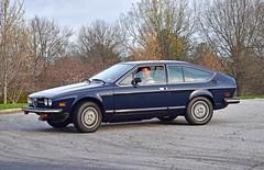 Alfa Romeo Alfetta Sprint Veloce (Thumpr455) Tags: upstatecarscoffee greenville sc march 2017 nikon d5500 afnikkor70300mmafpvr worldcars alfaromeo alfetta sprintveloce italian blue