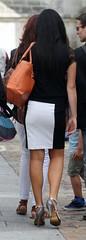 181 (SadCire) Tags: woman frau femme mujer girl calves legs miniskirt minidress skirt heels street candid sexy