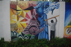 Street Art, Legazpi, Albay Province, Bicol, Philippines (ARNAUD_Z_VOYAGE) Tags: islands island philippines landscape boat sea southeast asia city people amazing asian street architecture river tourist capital town municipality filipino filipina action colors mountain mountains panay trycicle province beach beaches white sand turquoise nature coral reefs limestone cliffs davao mindanao church legazpi albay bicol