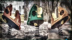 Playground Hot Rods (dougkuony) Tags: playground playgroundhotrods triptyque hdr