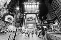 Sogo, Hong Kong (Bernhard Sitzwohl) Tags: hongkong hk sar china shopping night street blackandwhite bw causewaybay yeewo georgestreet hennessyrd sogo travel urban modern wan chai hong kong island
