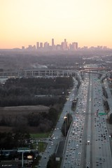 The Homeward Commute (zeesstof) Tags: aerial aerialview architecture brotoiah brownsvilletohouston commercialflight downtownhouston flight highway59 houston i69 lookingsouth sunset tallbuildings texas unitedairlines vacation viewedfromabove windowseat zeesstof