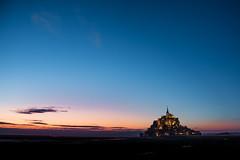 Le Mont-Saint-Michel (Günther Bayerle) Tags: frankreich sunset burg meer