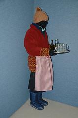 Slave Waitress (Buses,Trains and Fetish) Tags: slave waitress sweat torture hot niqab winter fleece apron hat boots maid