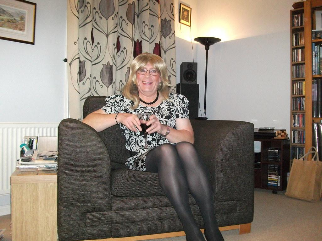 S TGIRL WORLD Relaxing In A Dress (rachel cole 121) Tags: tv transvestite transgendered  tgirl crossdresser