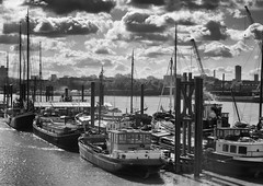 Barges on the Thames (Rico Shay) Tags: portwey london riverthames barges river lovephotography