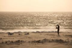 The end of a funny day (ramosblancor) Tags: humanos humans paisaje landscape hombre man deportes sports kitesurf viento wind playa beach mar sea atardecer sunset tarifa cádiz andalucía españa spain contraluz backlight