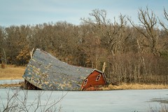 Sinking Red Barn (selo0901) Tags: sinking red barn