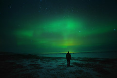 midnight stroll (Andy Kennelly) Tags: aurora northern lights midnight stroll iceland green winter february me selfportrait nig night stars nightphotography