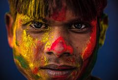 Jaipur - Holi festival #143 (Roberto Farina Travel Photography) Tags: portrait boy asia india rajasthan jaipur tinted holifestival streetphotography