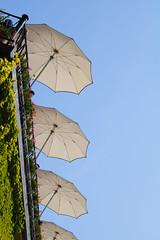 The high life (marionmcmurdo) Tags: terrace umbrellas sky sun plants abstract canoneos760d