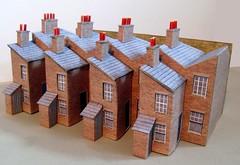 Small terraced houses (kingsway john) Tags: kingsway models card building kits houses terraced georgian ters 176 scale oo gauge terg small terrace house