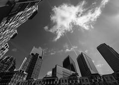 The Cloud (Bram Meijer) Tags: denhaag thehage blackandwhite bw blackwhite zwartwit city stad wideangel groothoek sky acros