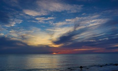 IMG_8667_Sunset by intuition (lada/photo) Tags: sunset gulfofmexico fl ladaphoto seascape clouds water sea horizon