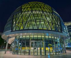 City Hall (Aubrey Stoll) Tags: city hall london england capital government local council mayor municipal glass windows meetings more riverside tourism offices commerce finance south side bank politics sir norman foster architecture egg bulbous night blue hour photography