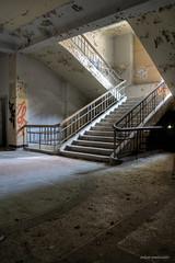 main staircase (Urban Tomb Raider) Tags: urbex urbanexploration decay abandoned abandonedhospital abandonedlungsanatorium urbandecay beautyofdecay urbexgermany canoneosm