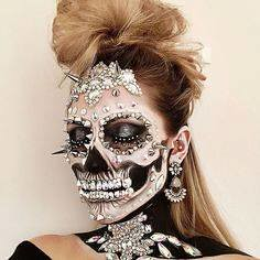 Skull | Skeleton Halloween Makeup , #makeup , FB: http://ift.tt/2p8KJ43 (ineedhalloweenideas) Tags: skull | skeleton halloween makeup costume happy h