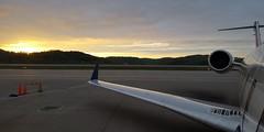 Sunset (CaptainDFW) Tags: canadair crj airplane airliner wing tail engine ramp tarmac charleston crw kcrw airport sunset