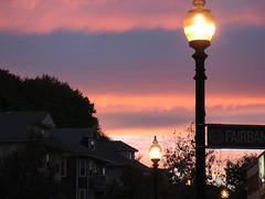 Fairbanks (aaron.knox) Tags: pink sky boston ma evening brighton streetlamp massachusetts pinksky