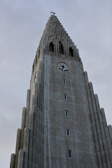 Tower (Justin LaBerge) Tags: street city travel light vacation sky tower church skyline architecture modern clouds buildings outdoors photography iceland europe cityscape tour exterior euro famous landmark scene reykjavik historic national hallgrmskirkja icelandic destinations