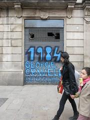 BarcelonA - Orwell 1984 * (Sterneck) Tags: barcelona streetart george 1984 orwell georgeorwell bigbrother