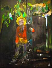 STAG [PETER DOIG, 2002-05] (Bruno LaLibert) Tags: photoshop painting modernart arts fujifilm 2014 peterdoig museedesbeauxartsdemontreal brunolalibert